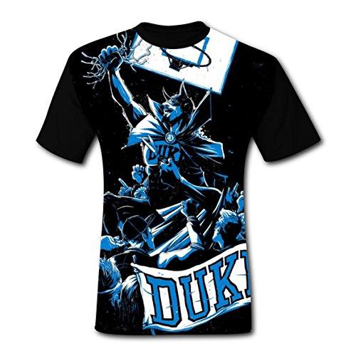 T-shirts Tee Shirt Tops for Men Black Cool 3D Duke Blue Devils XXL (T-shirt Sleeve Short Engineer)
