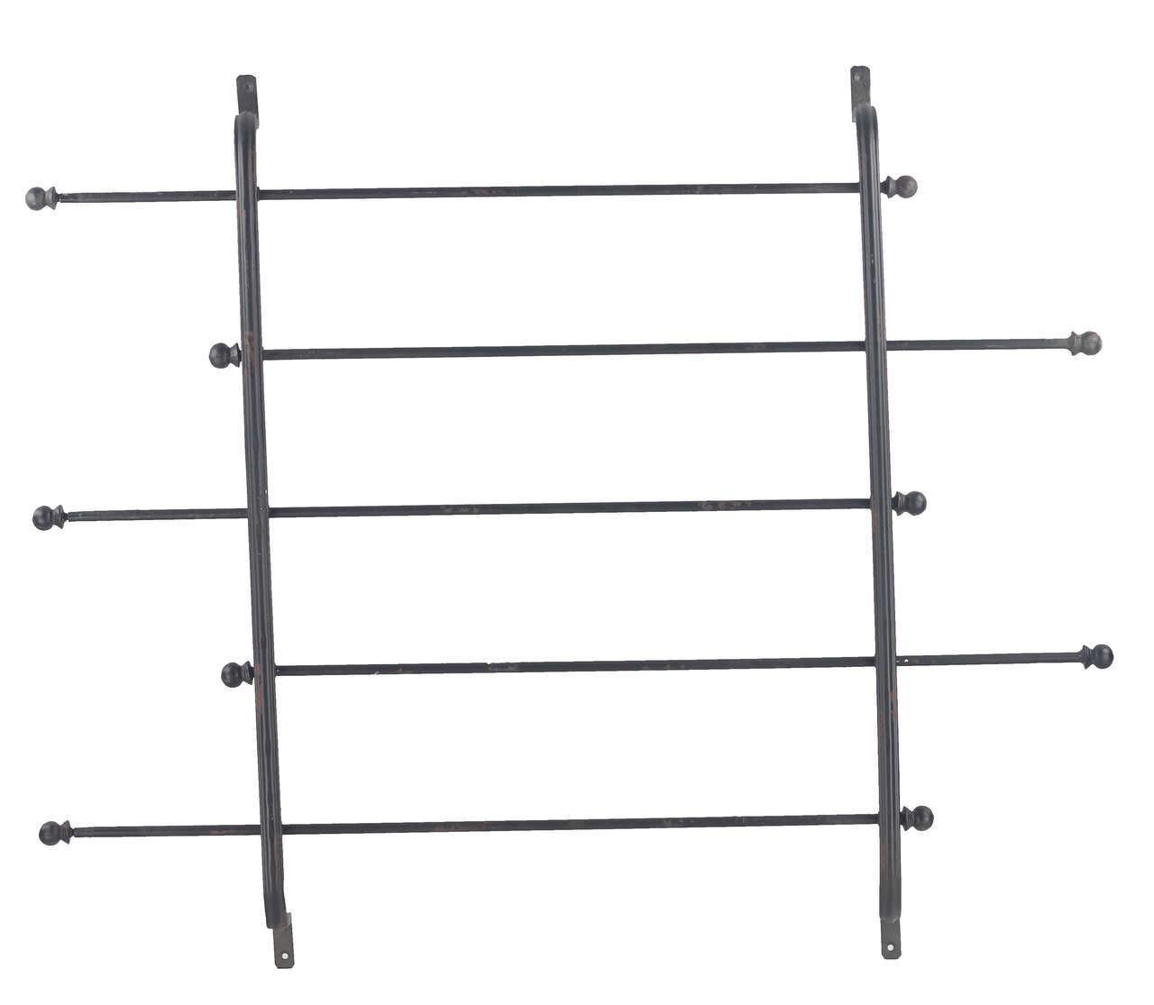 Black 5 Tier Metal Ribbon Rack Wrapping Paper Holder Distressed Black by VIP