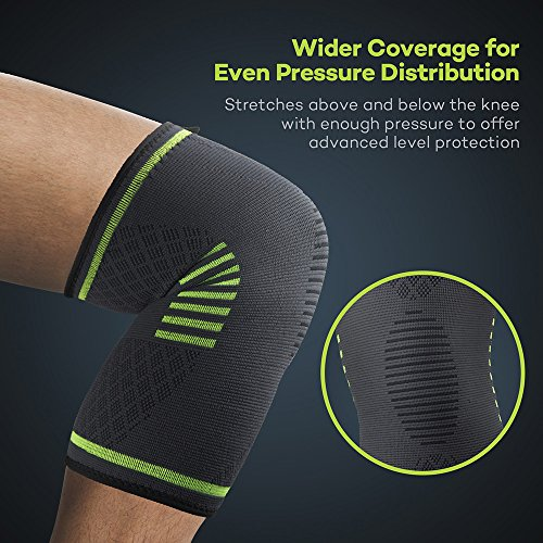 Sable Sablee Knee Brace, Compression Sleeve FDA Approved, Support for Arthritis, ACL, Running, Biking, Basketball Sports, Meniscus Tear, Faster Recovery, Large, Set of 2