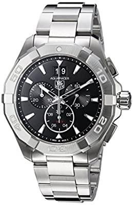 Tag Heuer Aquaracer 300M Chronograph 43mm Black Men's Watch CAY1110.BA0927 from Tag Heuer