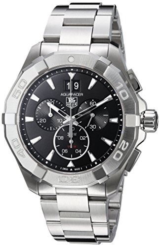Tag Heuer Chronograph Wrist Watch - Tag Heuer Aquaracer 300M Chronograph 43mm Black Men's Watch CAY1110.BA0927