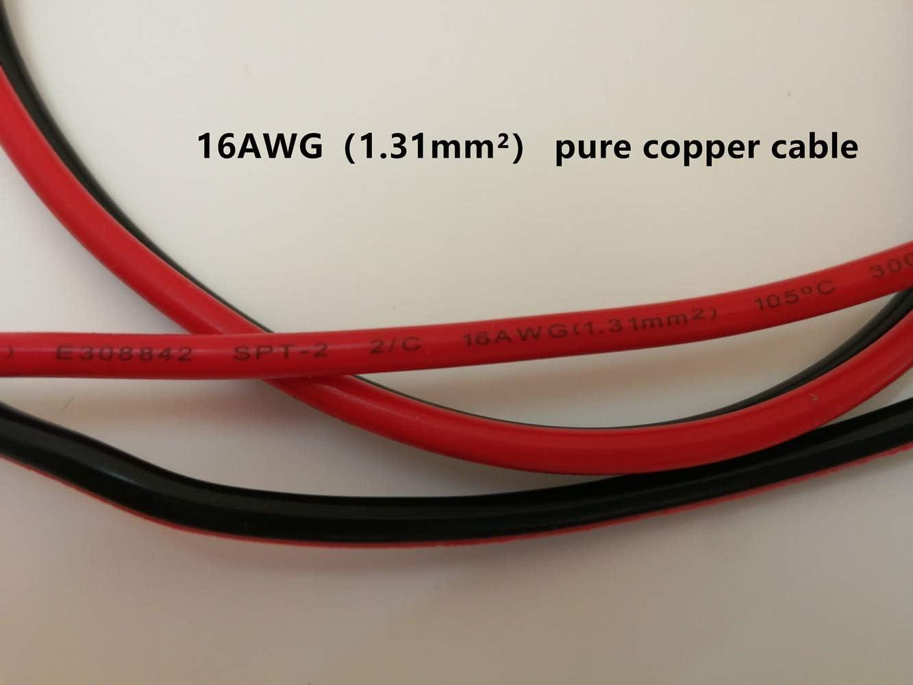 Juego de 2 piezas tractores de coches etc Dongge SAE Conector cargador de bater/ía de motocicleta SAE Cable de carga SAE corta r/ápidamente el enchufe al fusible de 12 V adecuado para cargar motocicletas