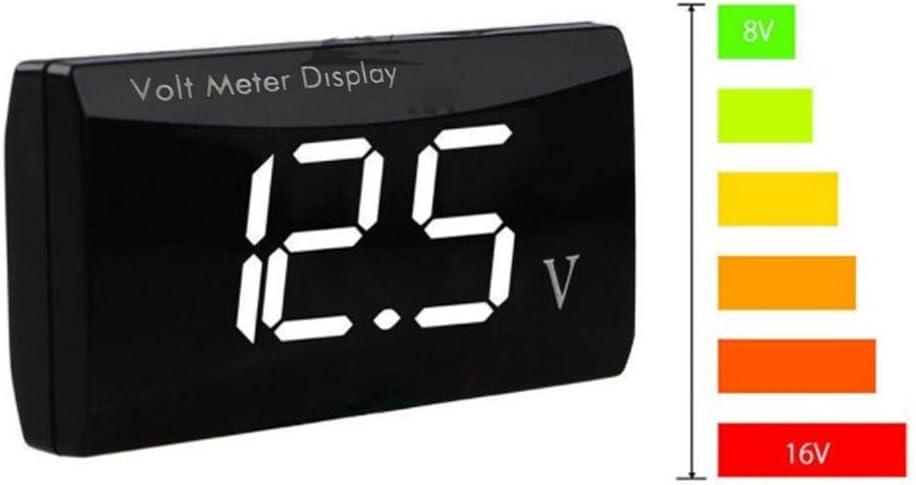 Mini Voltm/ètre Num/érique DC LED Affichage 0.56 Pouce /à Deux Fils Voltm/ètre /Étanche /étanche /à la Poussi/ère Testeur de Tension M/ètre