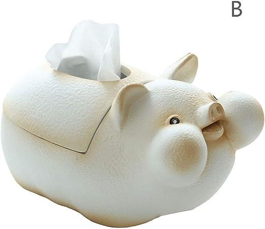 Stoge Boite De Mouchoirs En Resine En Forme De Cochon