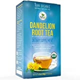 Dandelion Root Tea - Raw Organic Vitamin Rich Digestive - 1 Pack (20 Bags 2 Grams Each) - Detox Tea - Ideal to Help Improve Digestion and Strengthen Immune System - Anti-inflammatory and Antioxidant