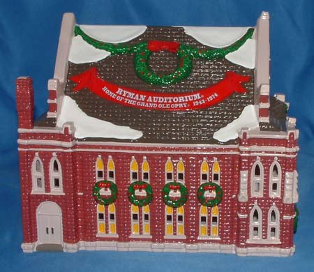 Department 56 Snow Village Ryman Auditorium - Grand Ole Opry - Retired by Department 56