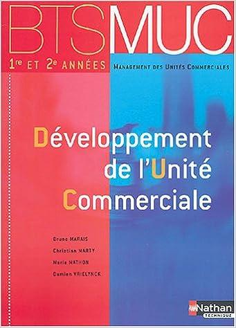 En ligne BTS MUC : Développement unité commerciale pdf ebook