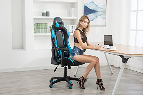 519VYUU6%2BoL - eurosports 7218H Executive Swivel Leather Gaming Chair,Racing Style High-back Office Chair With Lumbar Support and Headrest