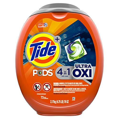 Tide Pods Ultra Oxi Liquid Laundry Detergent Pacs, 73 Count, Packaging May Vary (A 1 Laundry)