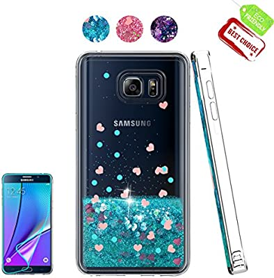 wholesale dealer ae1c2 2ddc3 Amazon.com: Galaxy Note 5 Case with HD Screen Protector, Sparkle ...