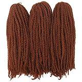 Afro Kinky Twist Crochet Hair Braids Marley Braid Hair 18inch Senegalese Curly Crochet Synthetic Braiding Hair  350