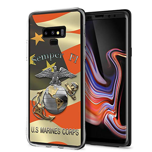 (Cocomong Marine Corps USMC Cool Galaxy Note 9 Case, Slim Thin Silicone Protective Cover Case for Samsung Galaxy Note 9 for Girls)
