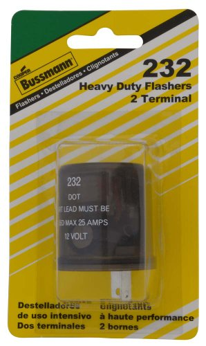 (Bussmann (BP/232-RP) Round 20 Amp 12V DC Carded Heavy-Duty Electronic Flasher)