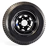 Radial Trailer Tire On Black Rim ST225/75R15 Load D (5 Lug On 4.5'') Spoke Wheel