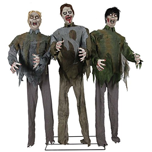 HALLOWEEN ANIMATED LIFE SIZE WALKING DEAD ZOMBIE HORDE PROP -Easy-to-assemble]()