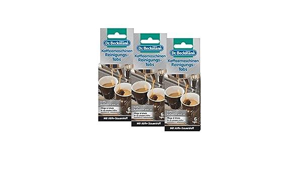 3 x máquina de café Dr. Beckmann de limpieza table Tabs - elimina el aceite y la grasa café: Amazon.es: Hogar