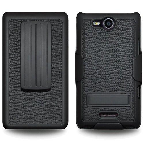 Amzer AMZ94054 Lighter Socket Phone Mount with Charging//Case System for LG Lucid 4G VS840 Black Retail Packaging
