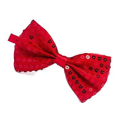 Angoter Unisex lentejuelas lindo de la pajarita corbata ajustable ...