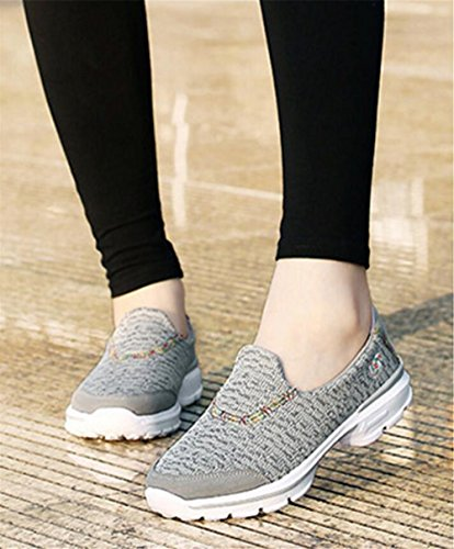 Women's Breathable Running Athletic Sneakers Tennis Shoes Lightweight Jogging gary Walking Training pit4tk dxY0wF6qd