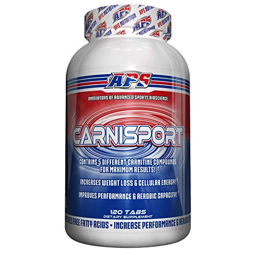 Carnisport - 5 Form L-Carnitine Caffeine Free Fat Burner, Weight Management and Recovery Supplement with Green Tea for additional muscle preserving weight loss, 120 capsules
