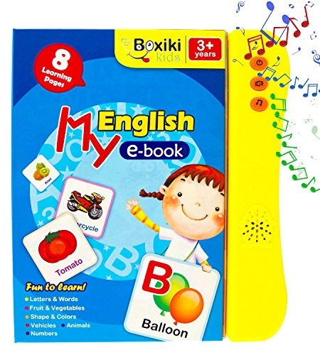 ABC Sound Book for Children / English Letters & Words Learning Book, Fun Educational Toy. Learning Activities for Letters, Words, Numbers, Shapes, Colors and Animals for Toddlers by Boxiki kids (Image #1)