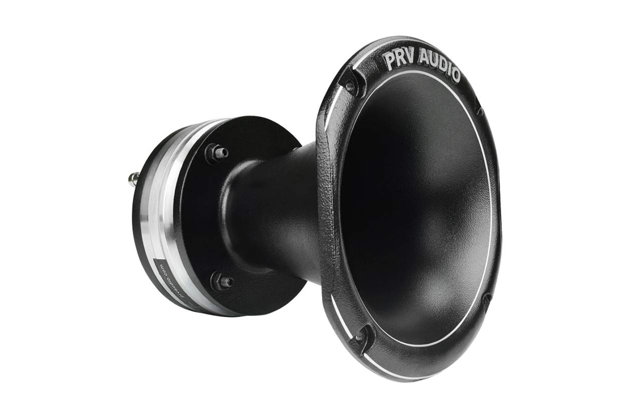 PRV Audio WG3220Ph-Nd Phenolic Neodymium 2'' Exit 8 ohms 3'' VC Pro Audio Compression Driver with Aluminum Horn 109dB 110 Watts RMS - Combo