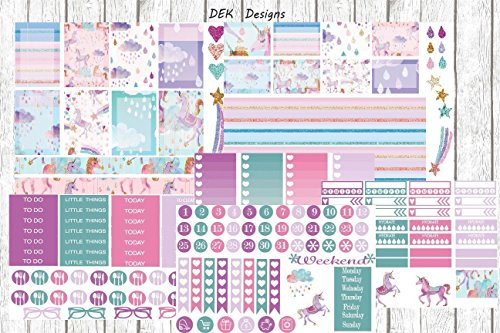 unicorn-planner-sticker-kit-six-half-size-sheets-included-your-choice-of-matte-repositionable-sticke