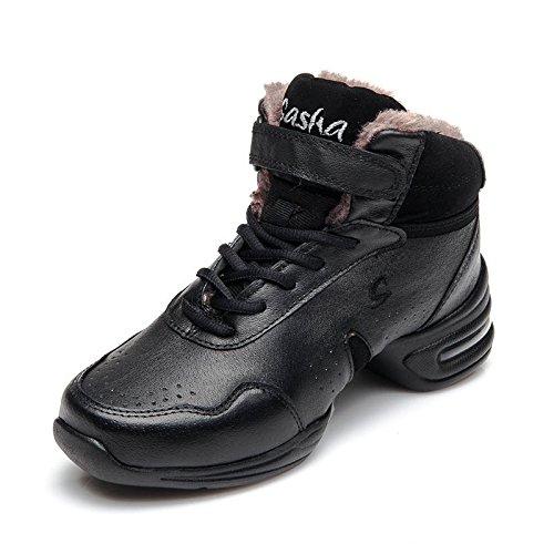 ZQ@QXRutschfester atmungsaktive atmungsaktive atmungsaktive und bequeme Schuhe aus Leder für Männer und Frauen in der modernen Groß Square Dance Schuhe d75a5c