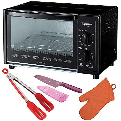Zojirushi ET-WMC22 Toaster Oven, 2-Slice, Black Includes Fli