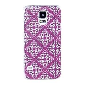 HJZ Samsung S5 I9600 compatible Graphic/Grid Pattern/Special Design Plastic Back Cover