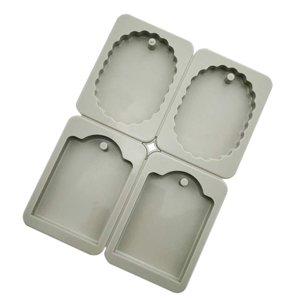 A 4 Caballos FLAMEER 1 Unidad Molde de Pasteles Vela 3D Aroma Cera Tableta de Silicona Reutilizable
