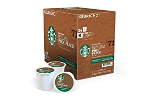 Starbucks Pike Place Decaffeinated Coffee Single-Serve K-Cup, 24 Count