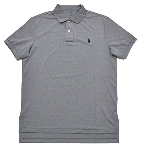 Polo Ralph Lauren Men's Striped Performance Pony Logo Shirt, Everest Heather, Large ...