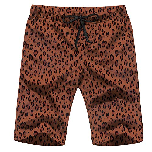 Leopard Jaguar Braun Fashion Men'S Swim Trunks and Workout Shorts Swimsuit Or Athletic Shorts - Adults Boys S
