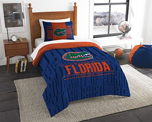 The Northwest Company Officially Licensed NCAA Florida Gators Modern Take Twin Comforter and Sham