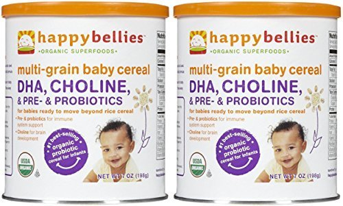 Happy Family happy bellies Baby Cereal - Multigrain - 7 oz ( Pack of 2 ) by Happy Family