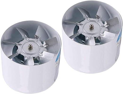 2pcs 4 Ventilador de Extracción Silencioso Ligero, Extractor de ...
