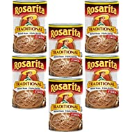 Rosarita Refried Beans 16oz Can (Pack of 6) Choose Flavor Below (Traditional)