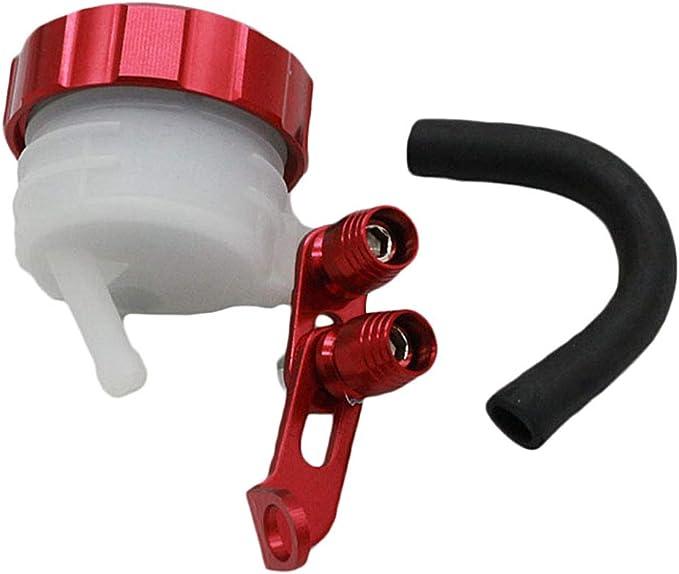 Schwarz /& Wei/ß Schwarz und Wei/ß 48 /× 40 mm KESOTO Vorderradbremszylinder Bremsfl/üssigkeitsbeh/älter Bremskupplungs/öltank