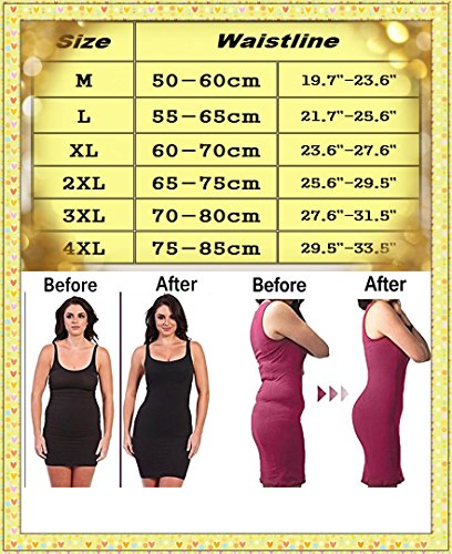 Slimming Shapewear Tank Tops Body Shaper Camisole for Tummy Waist Bust and Hips, Nude, 3XL by DODOING (Image #5)
