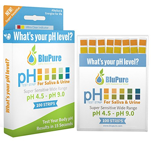 - Ph Test Strips + FREE Alkaline Food Chart PDF + Daily Tracking Sheet PDF | Quick, Easy and Accurate Results in 15 Seconds for Urine & Saliva Test Strips |100ct|