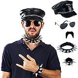 Search : Tigerdoe Rocker Costume - 5 Pc Set - Punk Costume - Gothic Costume - Punk Jewelry - 80's Rocker Costume