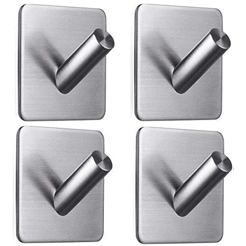 Ganchos adhesivos, 3M Autoadhesivo Toalla Batas para batas Ganchos para llaves Perchas de trabajo pesado Ganchos de pared...