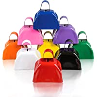 ArtCreativity 3 Inch Metal Cow Bell Noise Maker - Pack of 12 - Small Loud Metal Cowbell Noisemaker with Handle - Great…