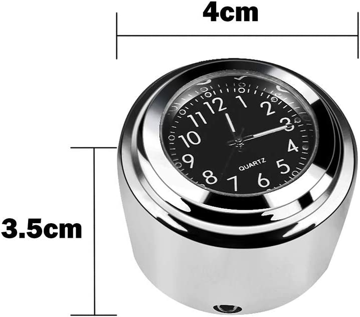 7//8 or 1 Motorcycle Handlebar Clock /& Thermometer Fit for Harley Waterproof