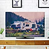 Philiphome Cord Cover for Wall Mounted tv Camper Travel Trailer Cover Mounted tv W19 x H30 INCH/TV 32''