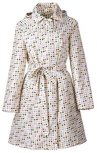 QZUnique Womens Packable Waterproof Rain Jacket Outdoor Raincoat with Zipper