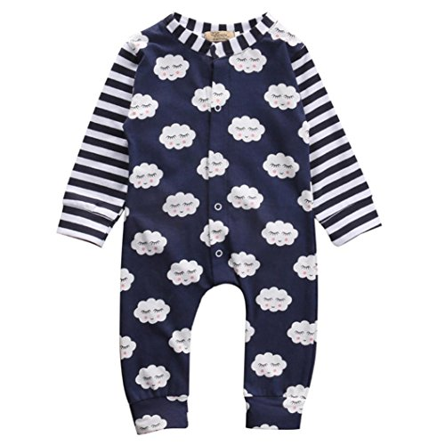 SMTSMT Toddler Newborn Baby Boys Girls Clothes Shy Clouds Rompers Jumpsuit Outfits
