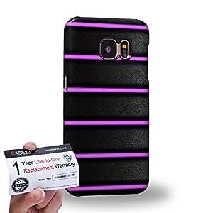 Case88 [Samsung Galaxy S7] 3D impresa Carcasa/Funda dura para & Tarjeta de garantía - Art Purple Bicycle Grip