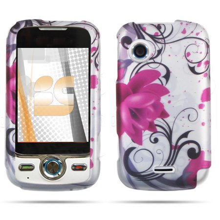 Beyond Purple Flower Silver Protector Case for Huawei M735 (Huawei M735 Case)